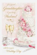 Granddaugter & Husband Wedding Day Greeting Card